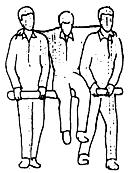 Группа оказывающих помощь без носилок